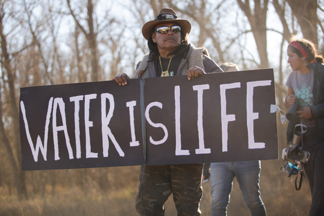 this is what life inside the standing rock camp looks like right mni wiconi translated as water is life