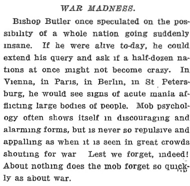 "great war the insane and familiar war madness of the nation in a late essay matthew arnold praised butler s ""sacred horror at men s frivolity """